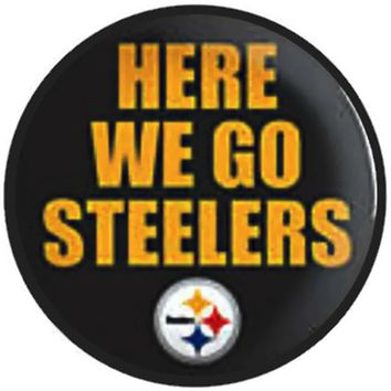 995112b7 NFL Here We Go Pittsburgh Steelers Football Fan Team Spirit 18MM. NFL Logo  Pittsburgh Steelers Charm for Ginger Snap Noosa and any other snap jewelry  ...