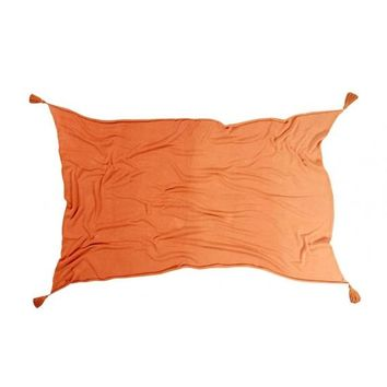 Ombre Cotton Blanket - Terracotta Orange