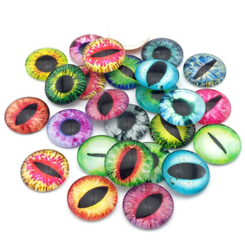 10pcs/lot 20mm round pattern glass cabochon,mixed patterns flat back handmade supplies for jewelry accessories