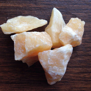 Raw Crystal Orange Calcite Healing Crystals and Stones Crystal Healing Raw Stone Bohemian Decor Alter Tools Tarot Tools Yoga Stone Orange