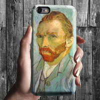Self-portrait - Van Gogh iPhone Case 6, 6S, 6 Plus, 4S, 5S. Mobile Phone Cell. Art Painting. Gift Idea. Anniversary. Gift for him and her