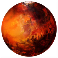 Mars Circle wall decal