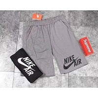 NIKE home fitness running basketball playing quick dry shorts F0678-1 Gray