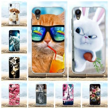 For BQ BQ-4072 Strike Mini Case Silicone Painted Protective Back Cover 3D Cute Animal For BQ4072 BQ 4072 4.0 inch Phone Cases
