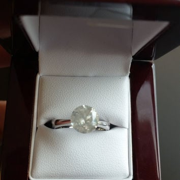 2.34 Carat H I1 Diamond Engagement Ring 14K Solitaire Anniversary Bridal Certified Jewelry Looks Great!! Huge Size Low Price!  Hurry!