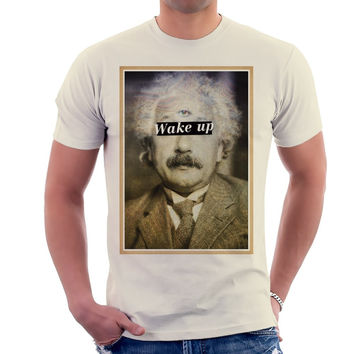 Albert Einstein Wake Up T-Shirt