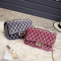 Fashion Luxury Handbags Women Bags Designer Velvet  Shoulder Bag