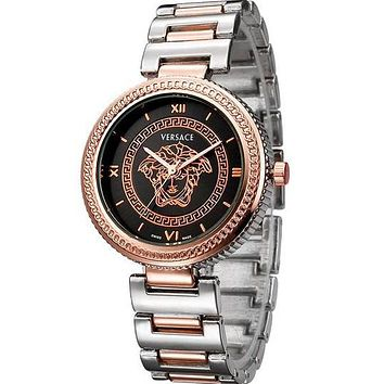 Versace fashion men and women fine quartz movement watch F