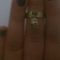 Bohemian Hippie Skull Above the Knuckle/ Mid finger Midi Ring