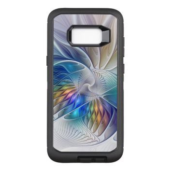 Floral Fantasy, Colorful Abstract Fractal Flower OtterBox Defender Samsung Galaxy S8+ Case