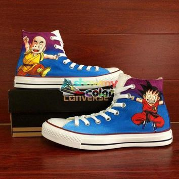 ONETOW dragon ball z painted converse