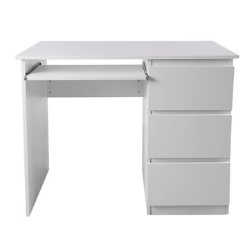 Computer Table Desk PC Table Home Study Office Table Work Desk Workstation Desk Furniture With Keyboard Tray White DX-109