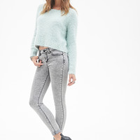 FOREVER 21 Mid-Rise - Classic Skinny Jeans Grey