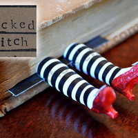 The ORIGINAL Wicked Witch Bookmark  - Ruby Slippers Bookmark - Witch Legs Bookmark