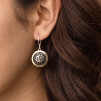 Himalayan Om Earrings