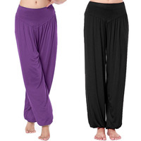Youga Modal Wide Belly Dance Comfy Boho Pants