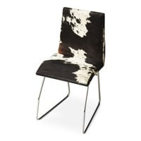Abilene Modern Hair-On-Hide Side Chair Multi-Color