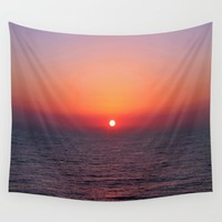 Indigo Sunrise Wall Tapestry by Inspired Images