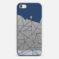 Abstract Mountain Navy Transparent iPhone 5s case by Project M   Casetify