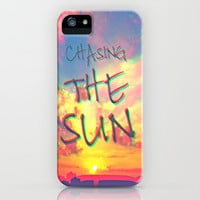 Chasing the Sun iPhone Case by M✿nika  Strigel | Society6