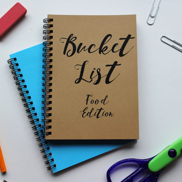 FOOD EDITION - Bucket List -   5 x 7 journal