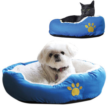 "Evelots Soft Pet Bed,Cats & Dogs, 18""L By 15""W By 5""H, Assorted Colors"