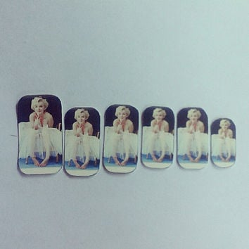 Marilyn Monroe Nail Decals