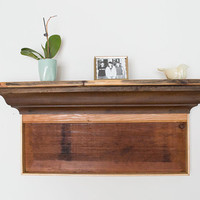 Reclaimed Wood Shelf - Rustic Wood Mantel - Barn Wood Mantel - Barn Wood Shelf - Wooden Shelving - Country Floating Mantel - Floating Shelf