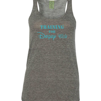 Training For Dopey 48.6 Disney Racerback Tank
