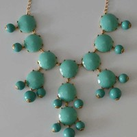 The Bubble Necklace in Mint