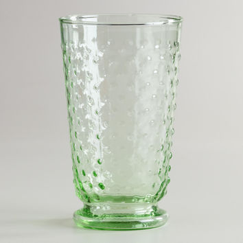 Green Hobnail Highball Fashioned Glasses, Set of 4 - World Market