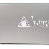 """Deathly Hallows Always Macbook pro 13"""" Vinyl Decal FREE SHIPPING"""