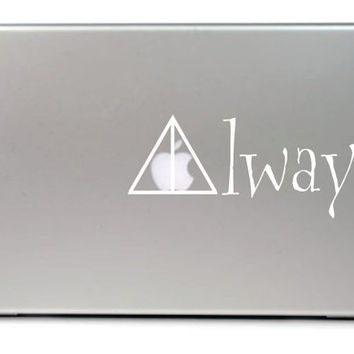 "Deathly Hallows Always Macbook pro 13"" Vinyl Decal FREE SHIPPING"