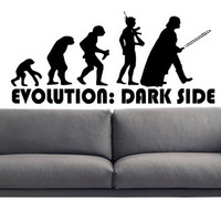 Dark Side Evolution Darth Vader Star Wars ATAT Death Star Storm Trooper Wall Art Wall Decals Wall Stickers tr165