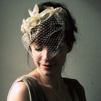 The Valerie Floral Headpiece and Veil by alexandragrecco on Etsy