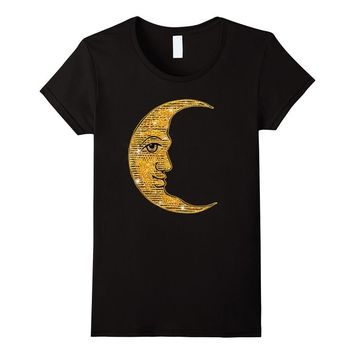 Man in the Crescent Moon Glitter Look Tshirt