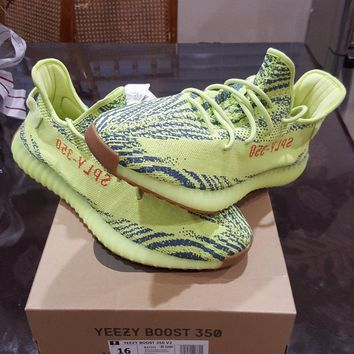ADIDAS YEEZY BOOST 350 V2 FROZEN YELLOW QS SIZE 16 MAX PE RARE ULTRA VOLT NEON