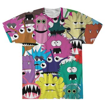 Monsters Funny Graphic Shirt for Men and Women, Women's Tops, Men's Tops, Sublimation Tee