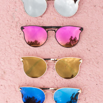 Thin Wire Frame Sunglasses