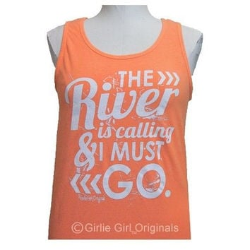 Girlie Girl Originals The River Melon Orange Bright Tank Top
