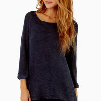 Loosely Added Knit Sweater $42