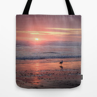 Sunset at Cannon Beach Oregon Tote Bag by Wood-n-Images