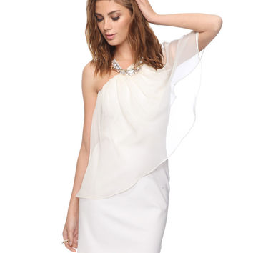 Pleated Chiffon Overlay Dress | FOREVER21 - 2000042165