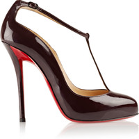 Christian Louboutin - Ditassima 120 patent-leather T-bar pumps
