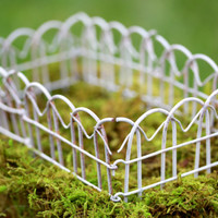 Fairy Garden Fence white rustic wire miniature accessories fencing