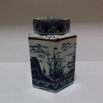 Andrea By Sadek Japan Vintage Ginger Tea Coffee Jar Ships