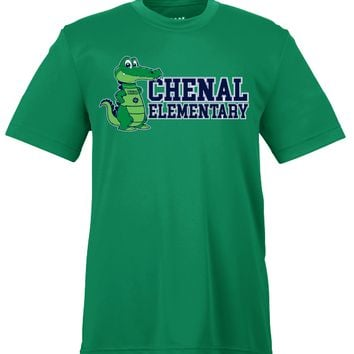 Chenal Elementary Gators Youth Dry-fit T-Shirt - GREEN