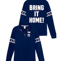 New York Yankees Half-Zip Pullover - PINK - Victoria's Secret