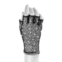 Katy Perry Mesh Gloves with Pearls