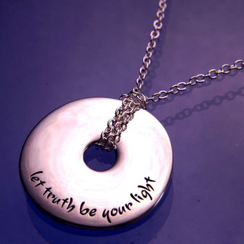 Let Truth Be Your Light Sterling Silver
